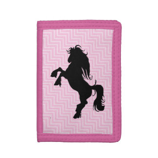Chic Pink Chevron Horse Wallet