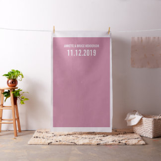 Chic Pink Diy Wedding Photo Booth Backdrop Fabric