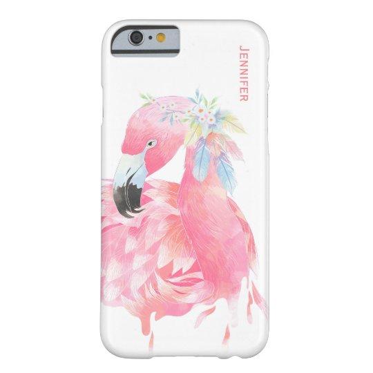 Chic Pink Flamingo Custom iPhone 6 Case