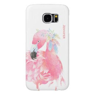 Chic Pink Flamingo Custom Samsung S6 Case