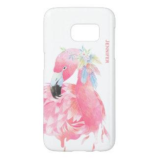 Chic Pink Flamingo Custom Samsung S7 Case