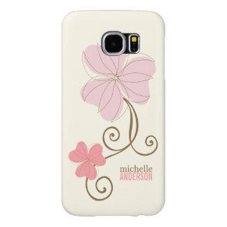 Chic Pink Florals Samsung Galaxy S6 Cases