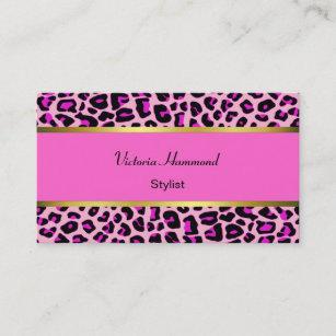Jaguar business cards business card printing zazzle uk chic pink jaguar print business card reheart Images