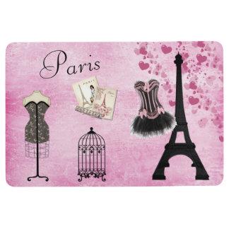 Chic Pink Paris Eiffel Tower Fashion Floor Mat