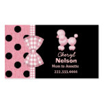Chic Pink Poodle Mummy Card