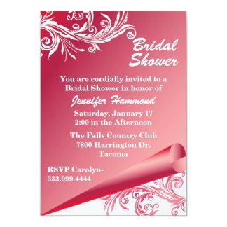 Chic Pink & White Bridal Shower Invitation