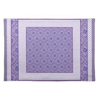 Chic Placemat: Mauve, White Ogees and Polkas Placemat