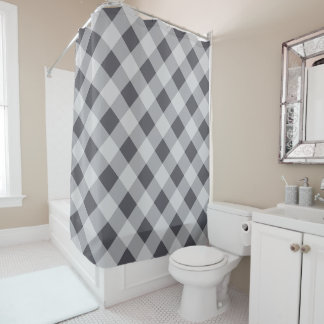 Chic Plaid Periscope Home Decor Shower Curtain
