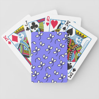 CHIC PLAYING CARDS_ 171 PERIWINKLE/WHITE FLORAL BICYCLE CARD DECKS