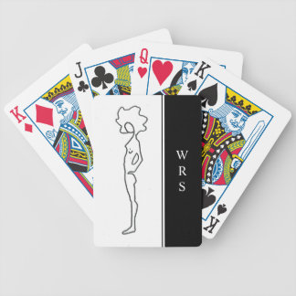 CHIC PLAYING CARDS_#3 FIGURE DRAWING/INITIALS BICYCLE PLAYING CARDS