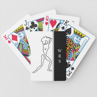 CHIC PLAYING CARDS_#5 FIGURE DRAWING/INITIALS BICYCLE PLAYING CARDS
