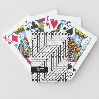 CHIC PLAYING CARDS_BLACK/GREY GEOMETRIC ON WHITE BICYCLE PLAYING CARDS