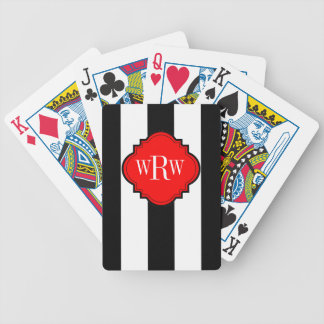 CHIC PLAYING CARDS_BLACK/WHITE STRIPES BICYCLE PLAYING CARDS