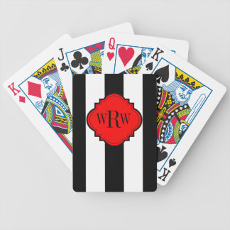 CHIC PLAYING CARDS_BLACK/WHITE STRIPES POKER DECK