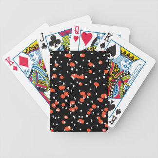 CHIC PLAYING CARDS_FLAME/WHITE DOTS ON BLACK BICYCLE PLAYING CARDS