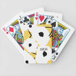 CHIC PLAYING CARDS_MOD WHITE & BLACK POPPIES POKER DECK