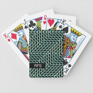 CHIC PLAYING CARDS_MODERN MINT GEOMETRIC ON BLACK BICYCLE PLAYING CARDS