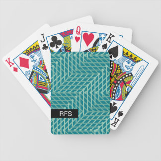 CHIC PLAYING CARDS_MODERN MINT GEOMETRIC ON TEAL BICYCLE PLAYING CARDS