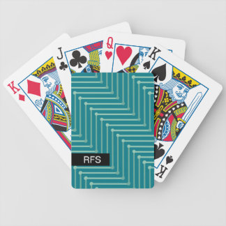 CHIC PLAYING CARDS_MODERN MINT ZIGZAG ON TEAL BICYCLE PLAYING CARDS