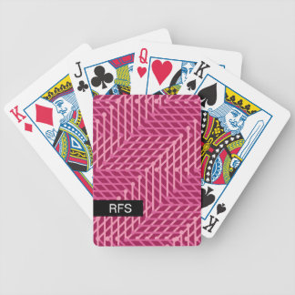 CHIC PLAYING CARDS_MODERN PINK/RASBERR GEOMETRIC BICYCLE PLAYING CARDS