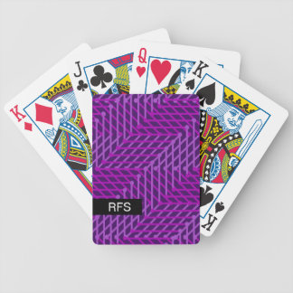 CHIC PLAYING CARDS_MODERN PURPLE GEOMETRIC BICYCLE PLAYING CARDS