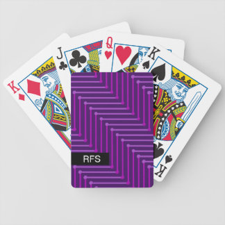 CHIC PLAYING CARDS_MODERN PURPLE ON PURPLE ZIGZAG BICYCLE PLAYING CARDS
