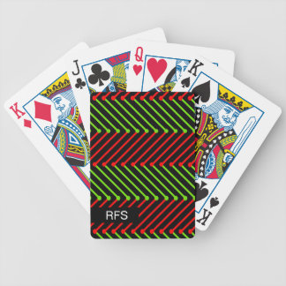 CHIC PLAYING CARDS_MODERN RED/GREEN/BLACK BICYCLE PLAYING CARDS