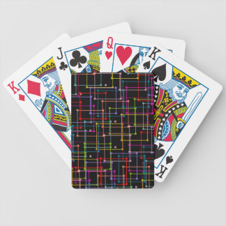 CHIC PLAYING CARDS_ MULTI-COLORED GEOMERTIC POKER DECK