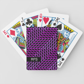 CHIC PLAYING CARDS_PURPLE GEOMETRIC ON BLACK BICYCLE PLAYING CARDS