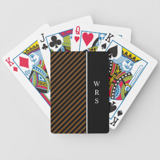 CHIC PLAYING CARDS_STRIPES//MONOGRAM  DIY BICYCLE PLAYING CARDS