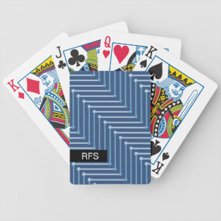 CHIC PLAYING CARDS_TWO-TONED BLUE GEOMERTIC BICYCLE PLAYING CARDS