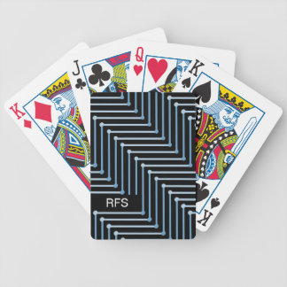 CHIC PLAYING CARDS_TWO-TONED BLUE GEOMERTIC POKER DECK