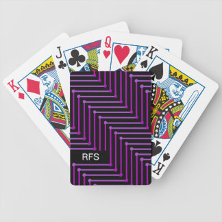 CHIC PLAYING CARDS_TWO-TONED PURPLE ZIGZAG BICYCLE PLAYING CARDS
