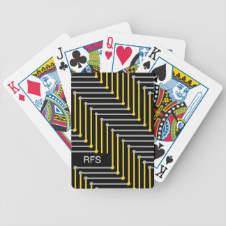 CHIC PLAYING CARDS_YELLOW/GREY GEOMERTIC BICYCLE PLAYING CARDS