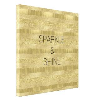 Chic Pretty Gold Stripes Canvas Print