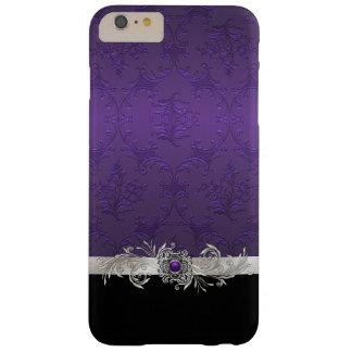 Chic Purple Damask iphone 6 Plus Case