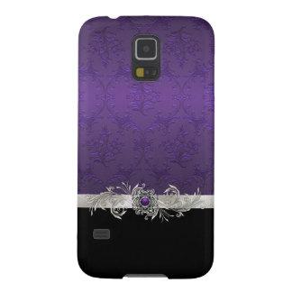 Chic Purple Damask Samsung Galaxy S5 Case