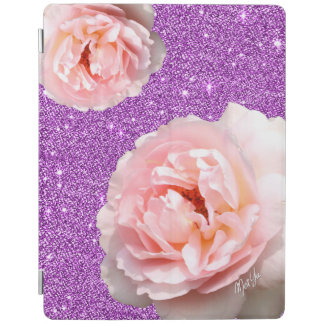 Chic Purple Glitter Floral iPad 2/3/4 Smart Cover iPad Cover