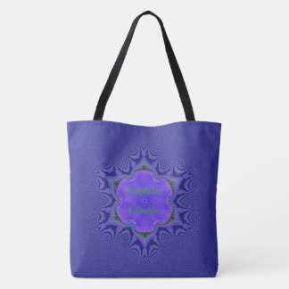 Chic Purple Lavender 'Simplicity Lifestyle' Tote Bag