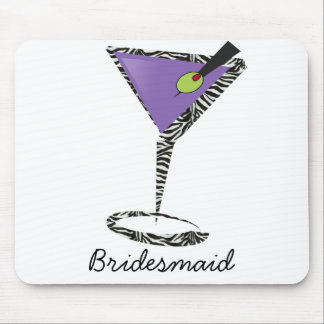 chic purple martini mouse pads