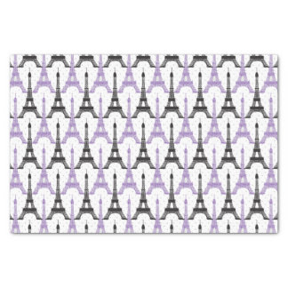 Chic Purple Paris Eiffel Tower tissues paper