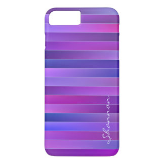 Chic Purple Stripes Custom iPhone 7 Plus case