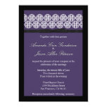 Chic Purple Wedding Invite with Bow 13 Cm X 18 Cm Invitation Card