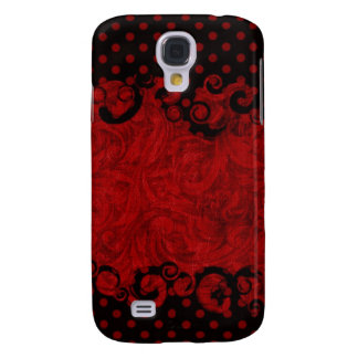 Chic Red and Black Damask HTC Vivid Cover