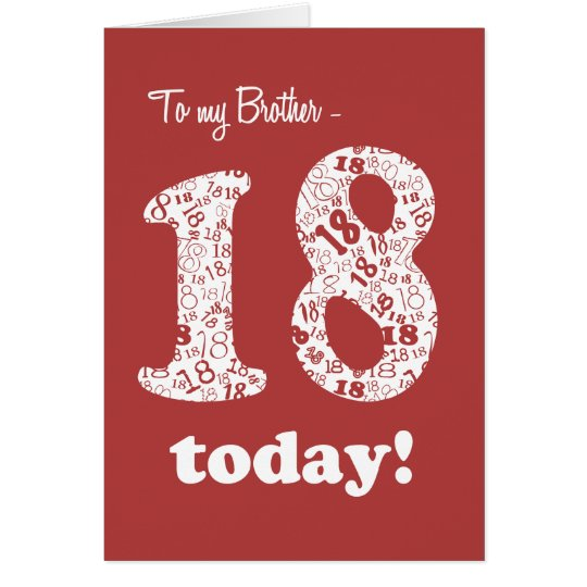 Chic Red and White 18th Birthday Card for