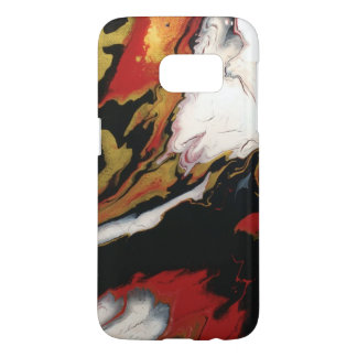 Chic Red Black & Gold Abstract Samsung Case
