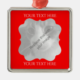 Chic red frame any occasion christmas ornament