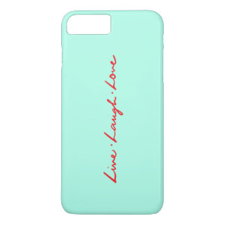 Chic Red Handwriting Live Laugh Love iPhone 8 Plus/7 Plus Case