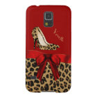 Chic Red & Jaguar Print Samsung Galaxy S5 Case