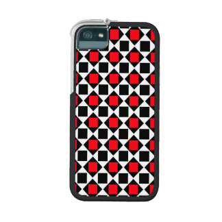 chic red white black pattern iPhone 5/5S cases